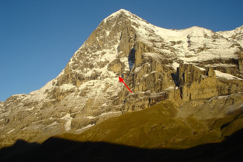 The north face of the eiger stollenloch out of the dark into the north face reheart Choice Image